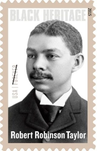 Stamp honoring Robert Robinson TaylorCopyright U.S. Postal Service