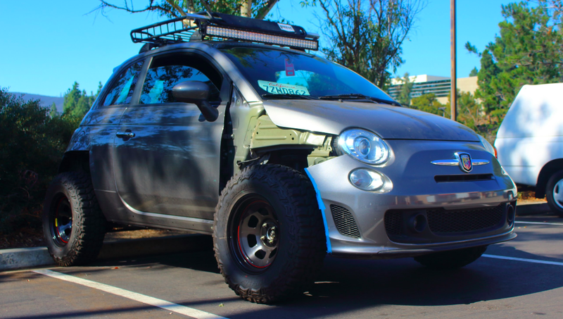 How One Man Turned His Fiat 500 Abarth Into an Offroader That Nearly