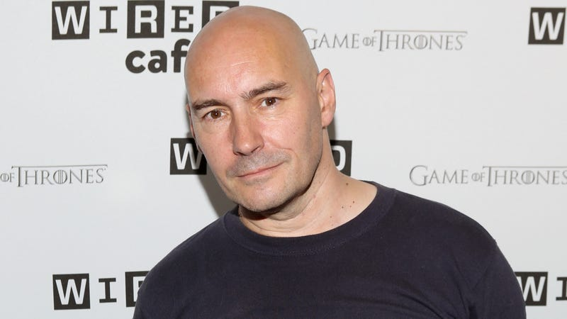 Grant Morrison at San Diego Comic-Con 2014.