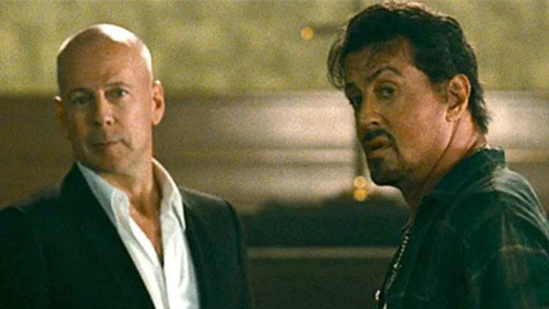 Illustration for article titled Sylvester Stallone and Bruce Willis allegedly had their Expendables fight over $1 million