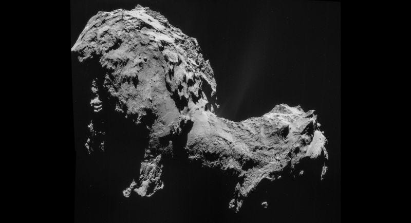 Illustration for article titled There's Primordial Oxygen Leaking From Rosetta's Comet