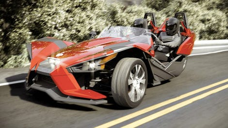 The Polaris Slingshot Is Your Amazing New ThreeWheeled Track Machine