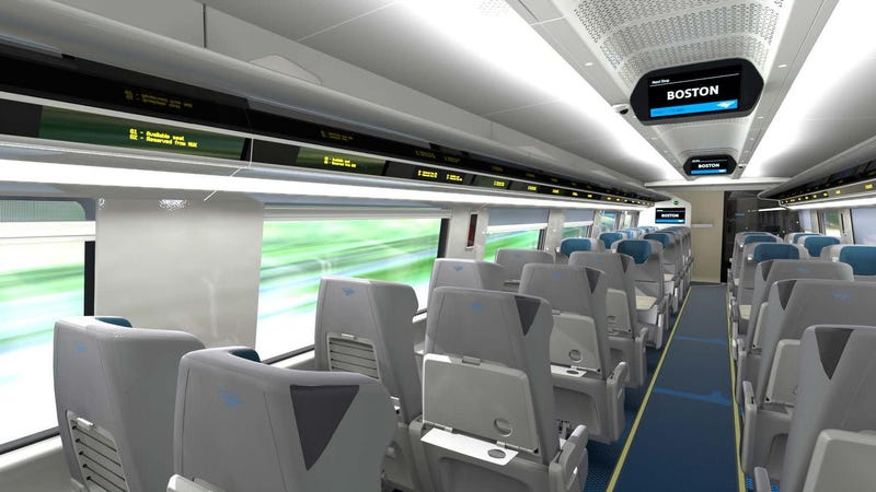 Illustration for article titled Mock-Up Shows A New Amtrak Acela Interior That's Refreshed But Familiar