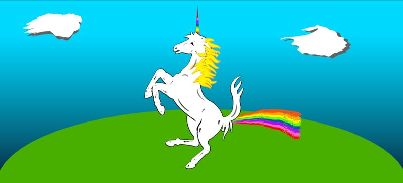 Illustration for article titled Utopia is Powered by the Rainbow Farts of Unicorns