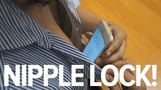 Can you use your nipples to unlock your iPhone 5S? Look at this guy