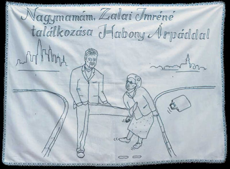 Illustration for article titled Zalai Imréné találkozása Habony Árpáddal az év legjobb falvédőjén