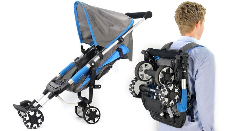 Illustration for article titled Clever Backpack Stroller Is Always at the Ready, Never in the Way