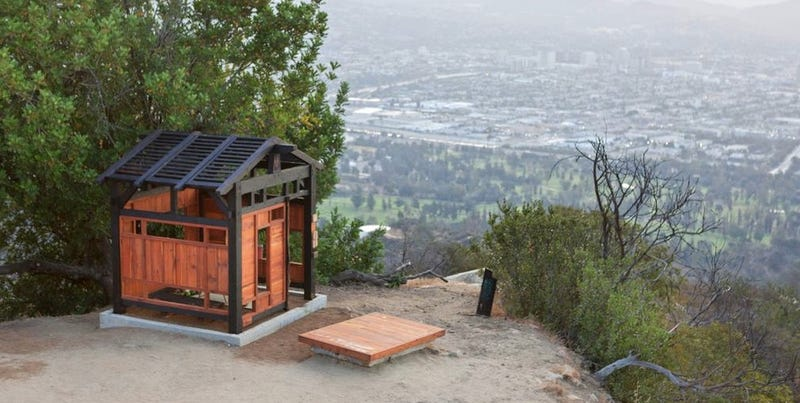 Illustration for article titled Someone Smuggled This Teahouse Into an LA Park Without Anyone Noticing