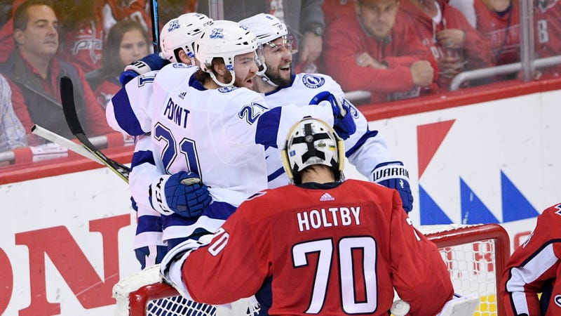 Illustration for article titled The Lightning Scored Three Beautiful Goals And The Capitals Only Scored Two