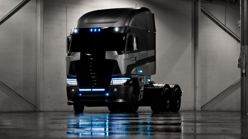 Illustration for article titled This Sinister Freightliner Truck Will Do Battle In Transformers 4