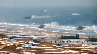Illustration for article titled North Korea Photoshopped Its Hovercraft Fleet To Make It Look Less Terrible and Sad