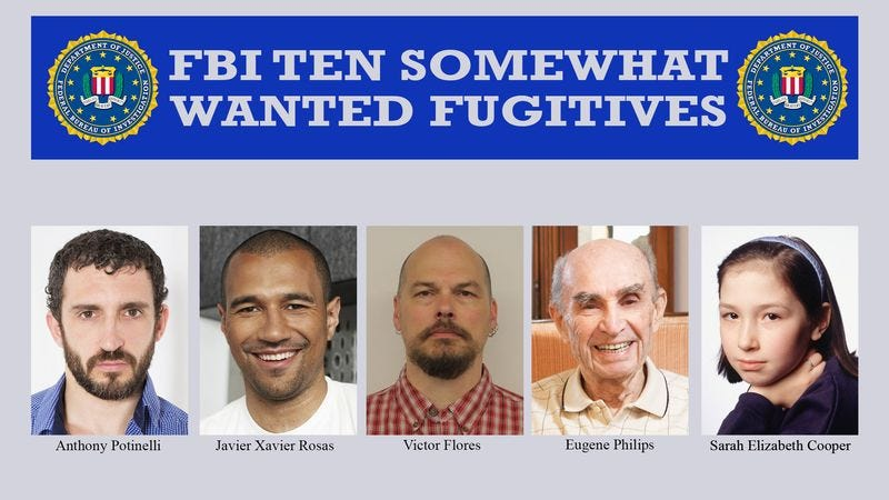 Illustration for article titled FBI Releases List Of Criminals It In No Particular Rush To Track Down
