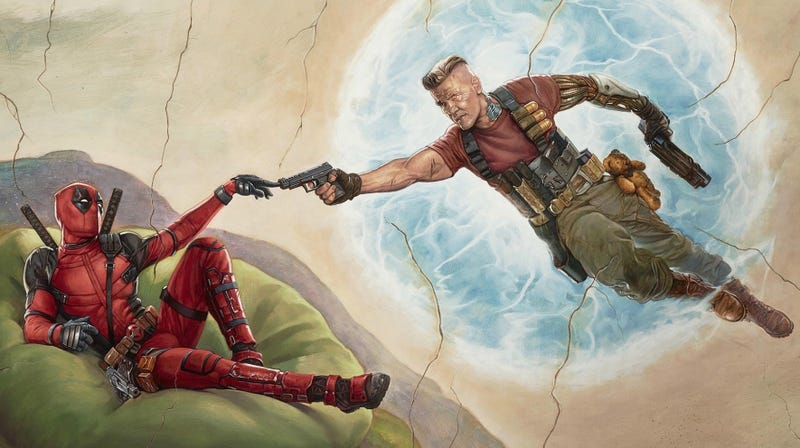 An early promotional image for Deadpool 2.