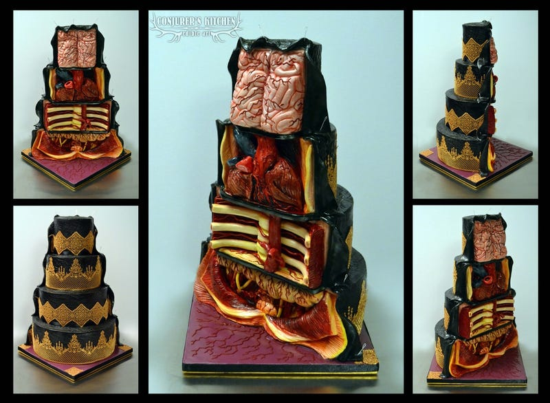 Illustration for article titled Morbid Cross-Sectional Cake Is a Delicious Anatomy Lesson