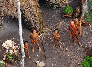 Illustration for article titled Never Before Seen Amazon Tribe Photographed for the First Time (Updated)