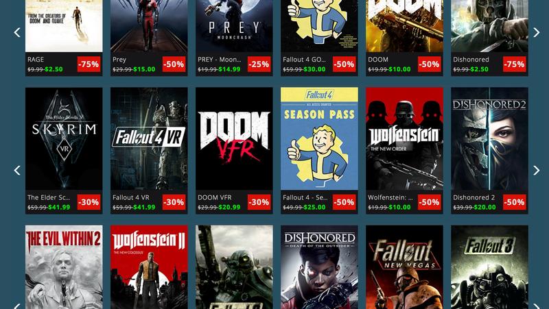 Bethesda QuakeCon Sales - PC   PS4   Xbox One