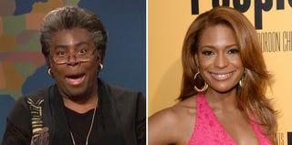 Screenshot of Kenan Thompson at SNL; Kimrie Lewis Davis (Jason Merritt/Getty Images)