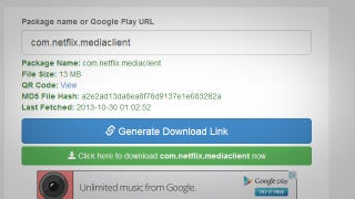 Illustration for article titled APK Downloader Pulls APK Files Directly From Google Play