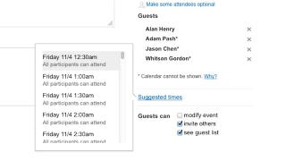 Illustration for article titled Google Introduces Suggested Times to Google Calendar, Makes Scheduling Appointments Easy