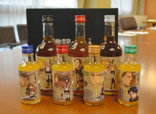 Illustration for article titled Attack on Titan Booze Will Get You Drunk