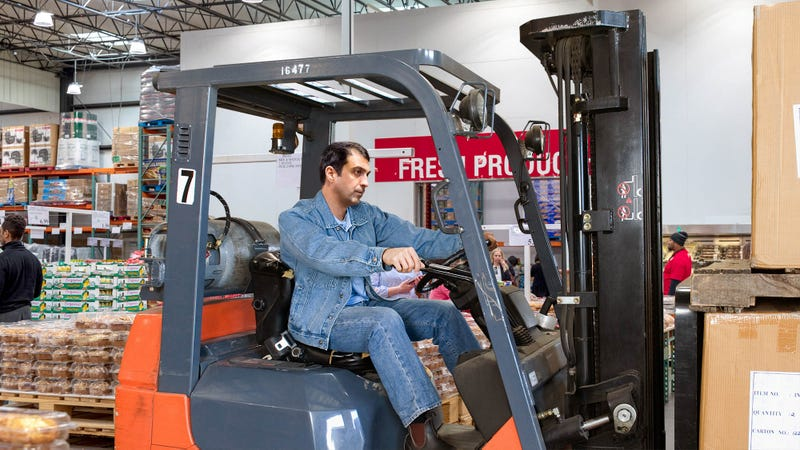 Illustration for article titled Man Annoyed At Being Mistaken For Employee Just Because He Driving Forklift Through Store
