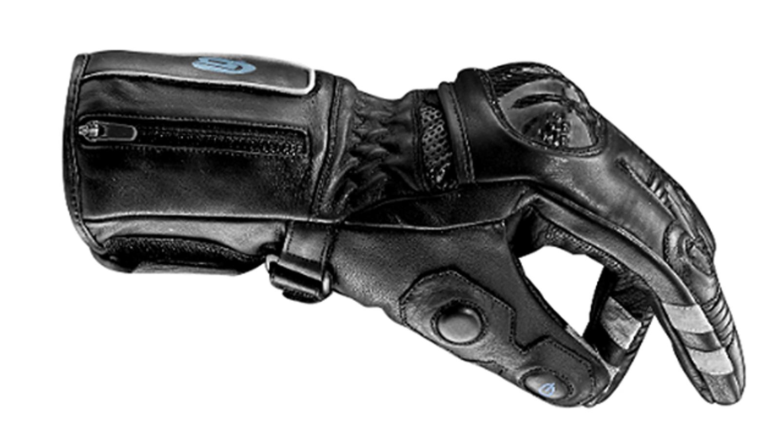 Así sí: diseñan guantes de moto con controles del móvil incorporados