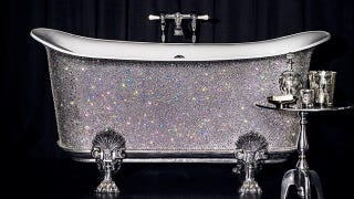 Illustration for article titled Buy This $200,000 Swarovski-Encrusted Bathtub and Cackle at Your Unfathomable Wealth
