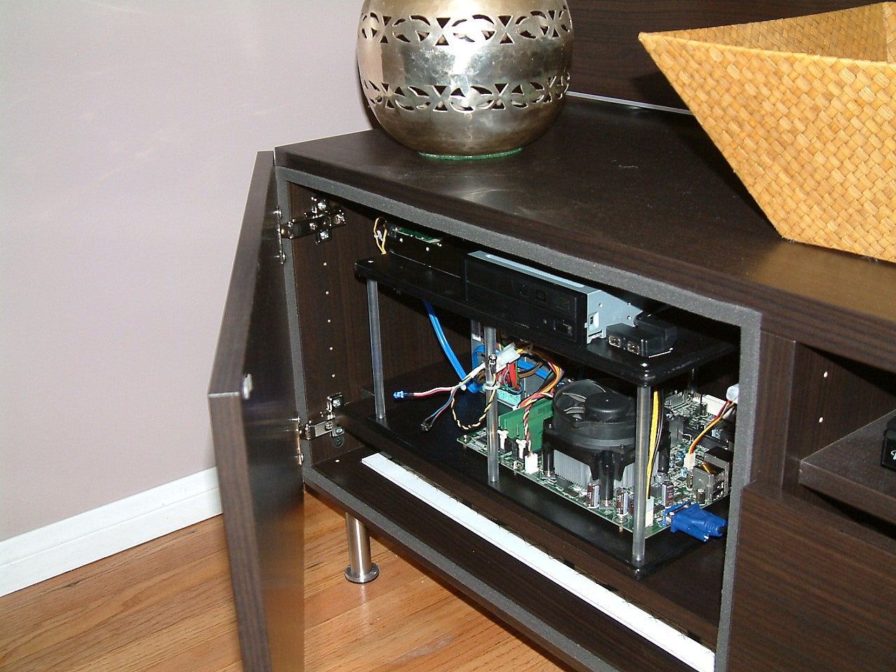 How To Build A Hidden Home Theater Pc Inside Your