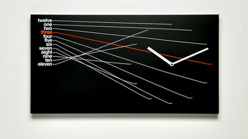 Illustration for article titled A Modernist Clock That's Bad For Telling Time, but Beautiful on Your Wall