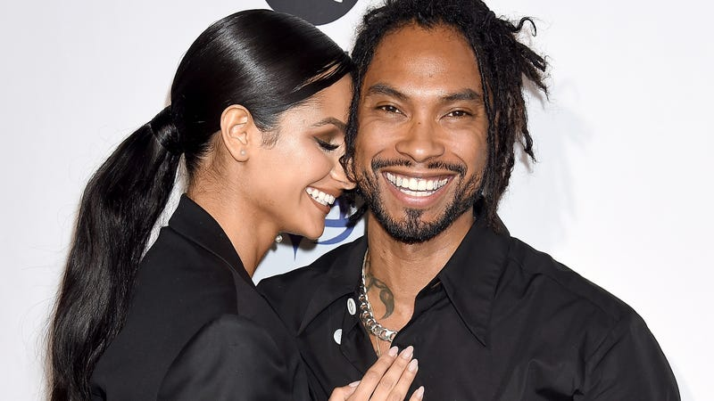 Miguel and Nazanin Mandi arrive at the Eva Longoria Foundation Dinner Gala at Four Seasons Hotel Los Angeles at Beverly Hills on November 8, 2018 in Los Angeles, California.