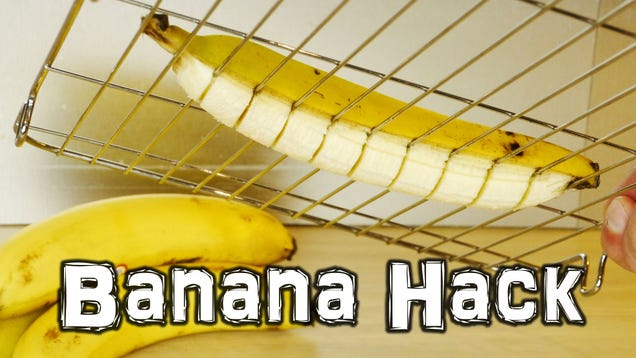 Slice an Entire Banana or Avocado at Once With a Metal Cooling Rack