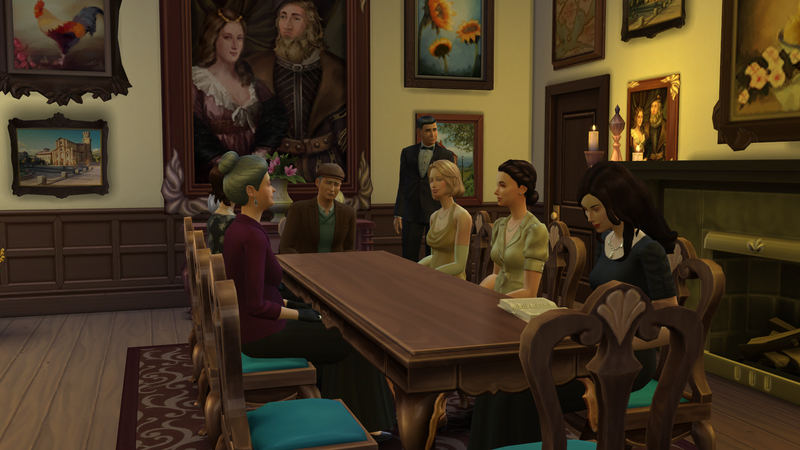 Illustration for article titled Downton Abbey, Made In The Sims 4