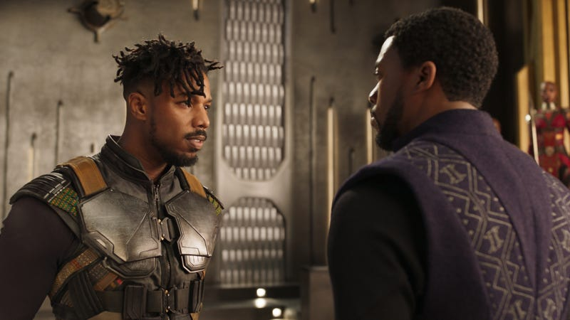 Killmonger and T'Challa.