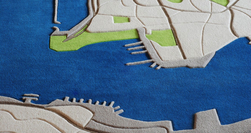 Illustration for article titled Rugs That Look Like the Earth As Seen From Your Window Seat
