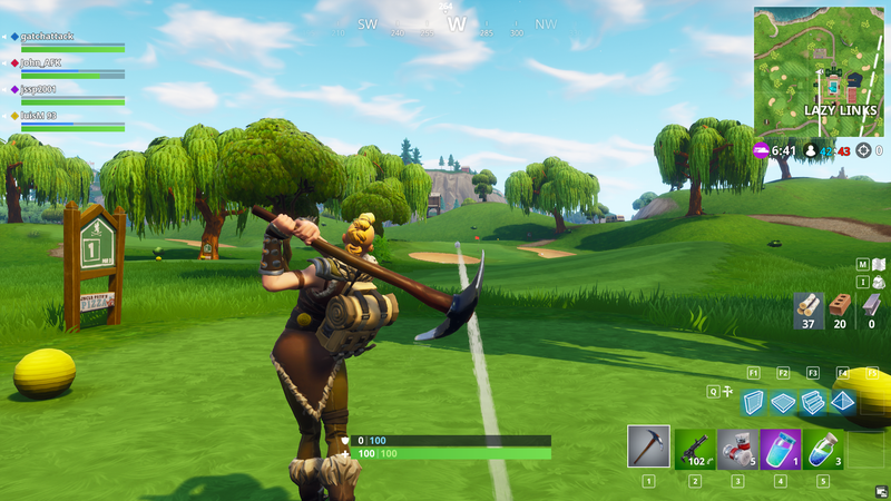 The ball is big and easy to over hit, but it doesn't take long to get a feel for the golf emote's physics so your shots become more precise.