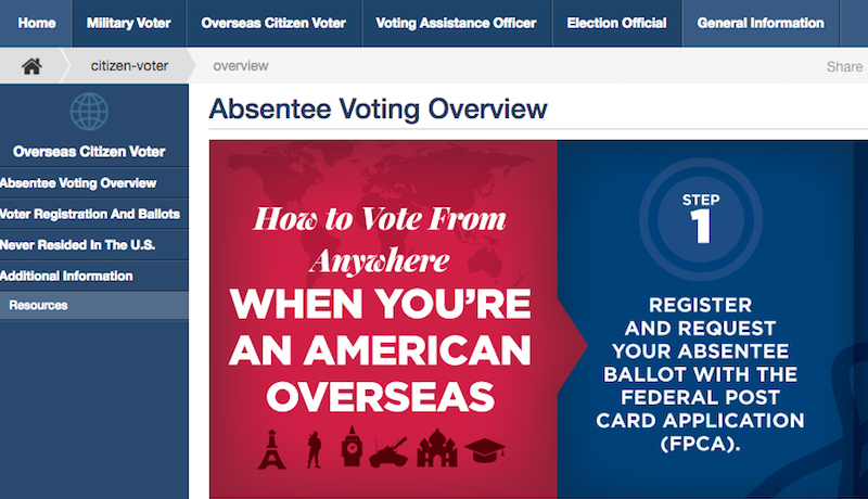 Illustration for article titled Register Now to Vote in U.S. Elections If You're Studying Abroad