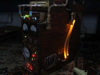 Illustration for article titled Steampunk PC Gives us a Warm Glow Inside