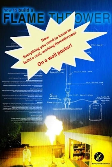 Illustration for article titled DIY Flamethrower Wall Poster: The Perfect Holiday Gift