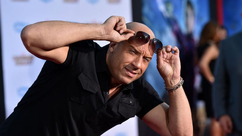 Illustration for article titled Caption This Pic of Vin Diesel at the Guardians Of The Galaxy Debut