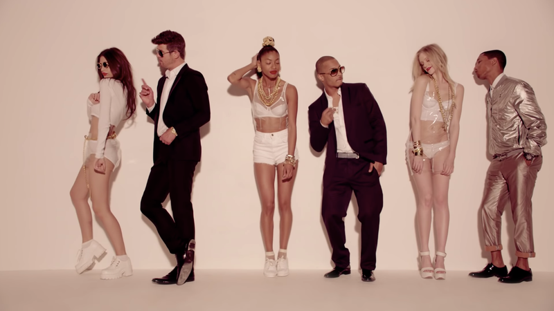 Illustration for article titled The 'Blurred Lines' Lawsuit Is Over, and Robin Thicke and Pharrell Williams Owe $5 Million