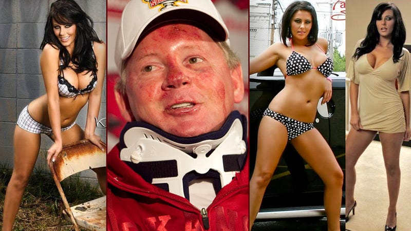 "Illustration for article titled Over Two-Month Period, Bobby Petrino Exchanged 200 Messages With Former ""Miss Motorcycle Mania"" Bikini Model"