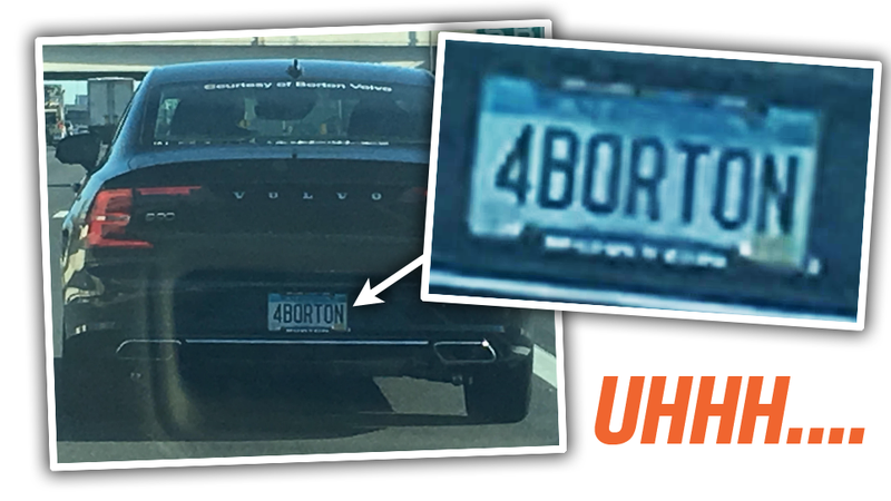 Illustration for article titled This Is The Most Unfortunate Vanity Plate In This History Of Humankind