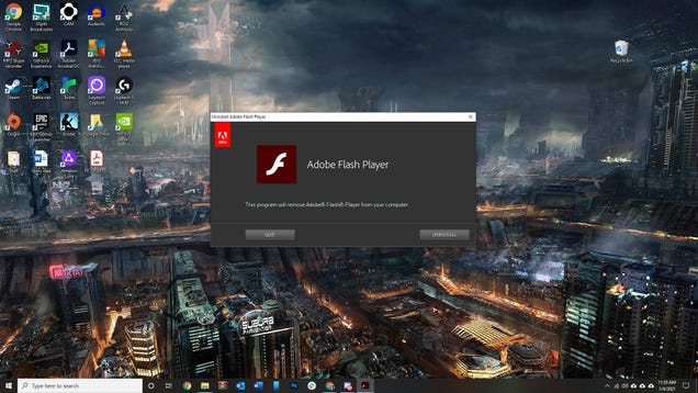 Windows 10 Update Will Get Rid of Flash Once and for All