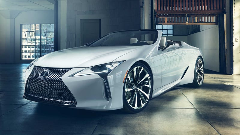 Illustration for article titled The Lexus LC Convertible Concept Means Opulent Open Air V8 Joy