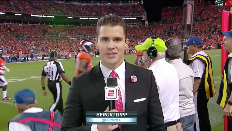 Sergio Dipp becomes national hero after groundbreaking 'MNF' sideline report