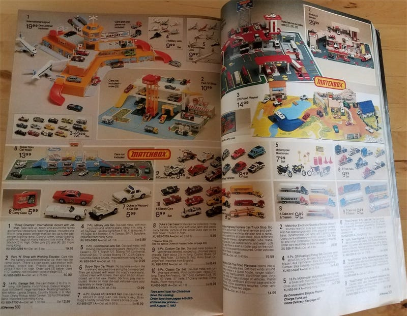 Surprise Saturday: Vintage Diecast in old Christmas catalogs (pic heavy)