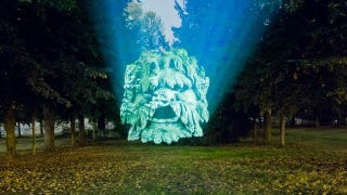 Illustration for article titled These Projectors Reveal The Creepy Gargoyle Face Hiding in Every Tree