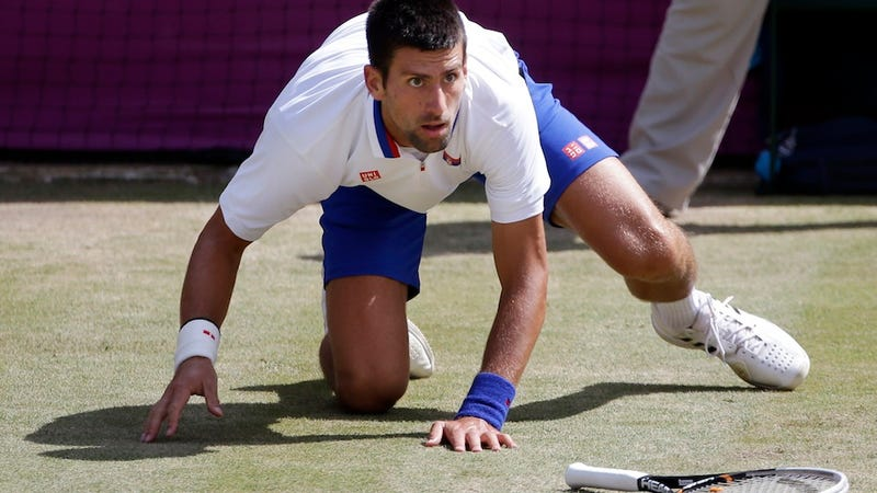 Illustration for article titled Vlade Divac Says Novak Djokovic Destroyed His Racquets With A Saw After The Olympics