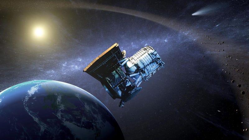 Illustration for article titled El cazador de asteroides de la NASA vuelve al trabajo
