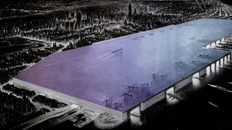 Illustration for article titled 6 Radical Infrastructure Schemes That Almost Changed NYC Forever